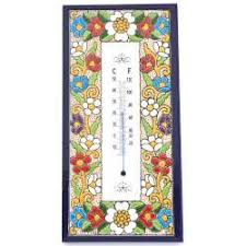Spanish Ceramic Inlay Thermometer