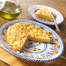 Tortilla Española Ceramic Flipping and Serving Plate