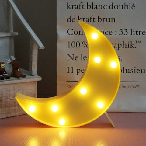Wolk Ster Maan 3D LED-Lamp
