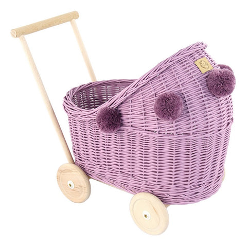 Image of Rieten Poppenwagen | Heather | Lilu