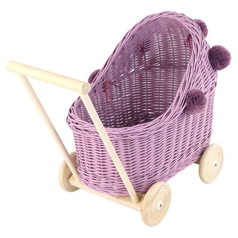 Rieten Poppenwagen | Heather | Lilu