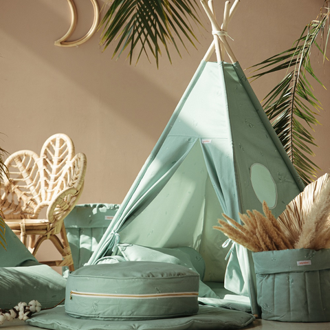 WIGIWAMA | Tipi tent / Speeltent | Tropical Collectie - Minty Green