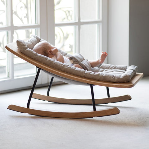 QUAX | Wipstoel Rocking Baby Bouncer | Gray