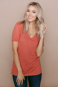 Orb Easy Fit V-Neck Shirt - Josephine