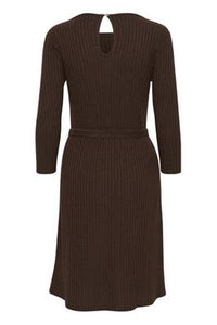 Fransa Ribbed Fit and Flare Dress
