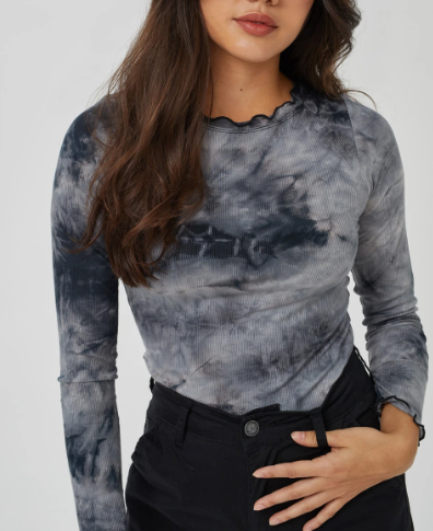 Kuwalla Ribbed Tie-Dye Long Sleeve