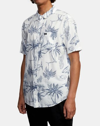 RVCA PANIC PRINT SHORT SLEEVE SHIRT