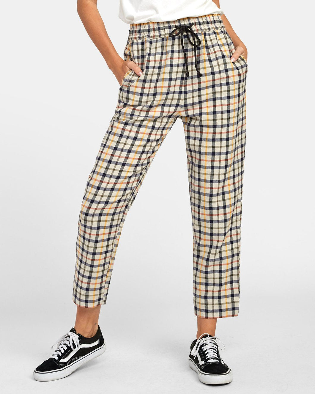 RVCA High Waisted Tapered Pants - Tetras