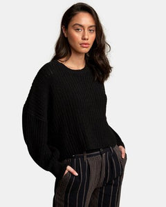 Rvca Louder Ribbed Knit Sweater