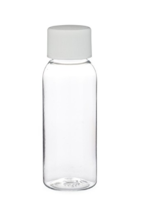 1 Oz Empty Plastic CLEAR PET Bottles with caps ( 24 PACK )