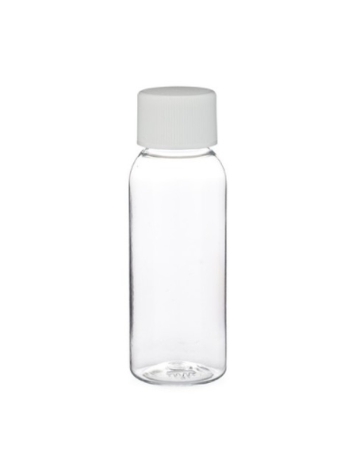 1 Oz Empty Plastic CLEAR PET Bottles with caps ( 48 PACK )