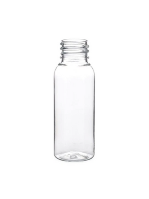 1 Oz Empty Plastic CLEAR PET Bottles with caps ( 12 PACK )