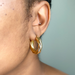 Load image into Gallery viewer, Twist of Fate Hoops - One of Sevyn Collection