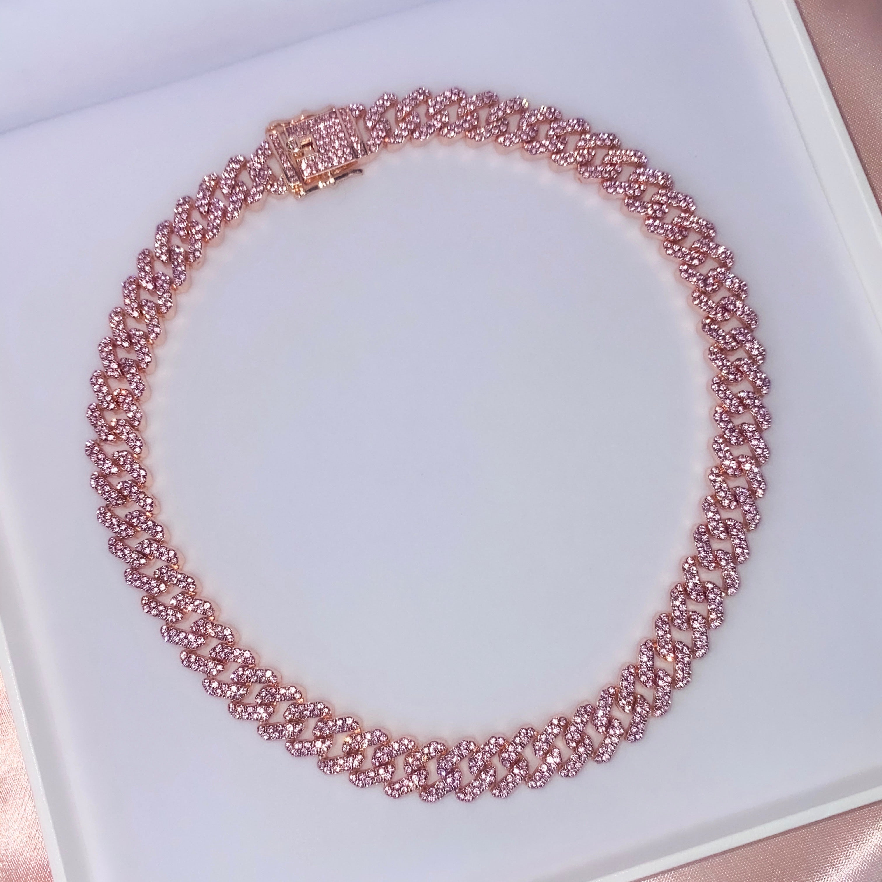 Stay Rosy Cuban Necklace - One of Sevyn Collection
