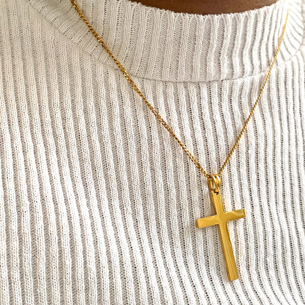 Classic Gold Cross Necklace - One of Sevyn Collection