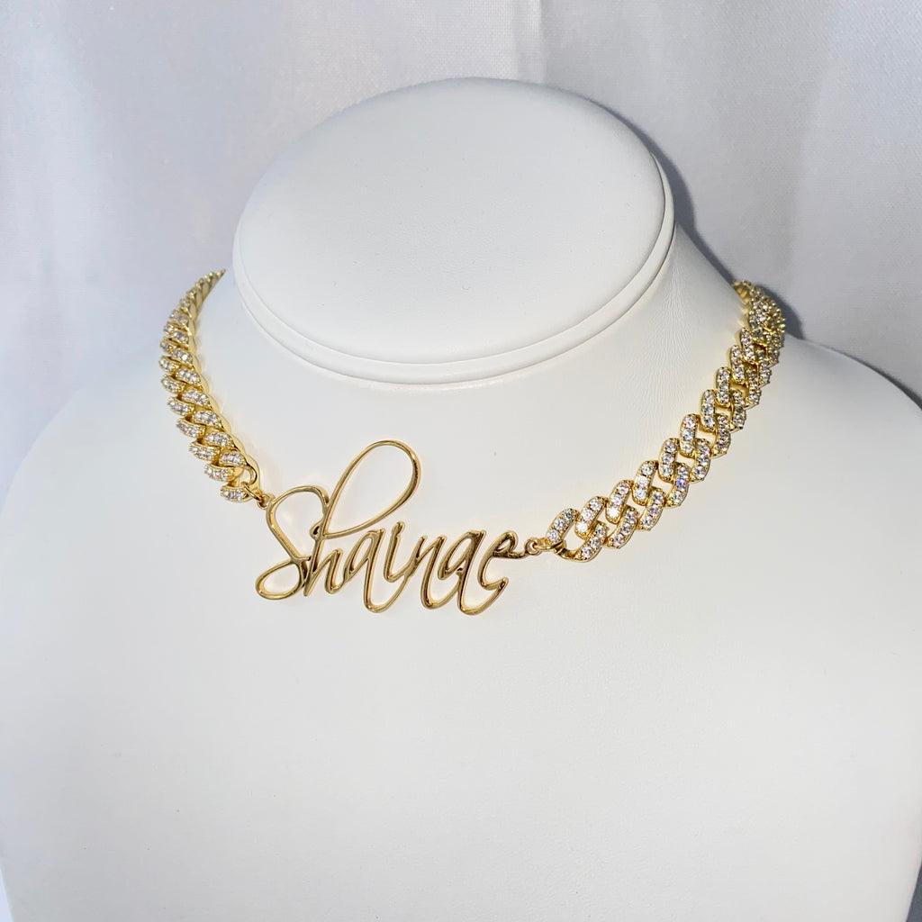 Cuban Custom Name Necklace - One of Sevyn Collection
