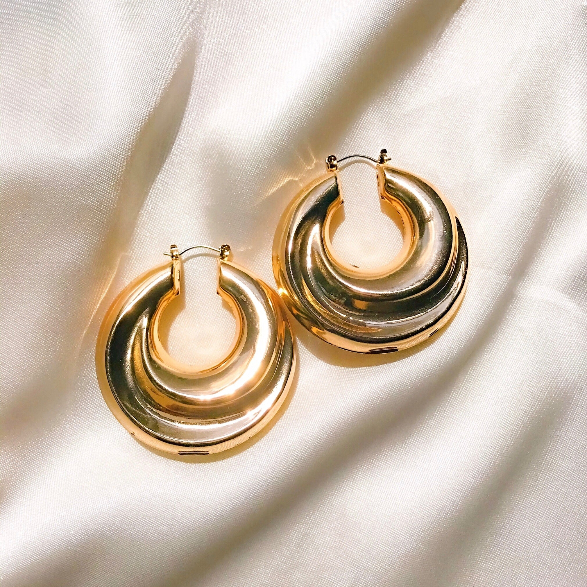 Luxe Chunky Gold Hoops - One of Sevyn Collection