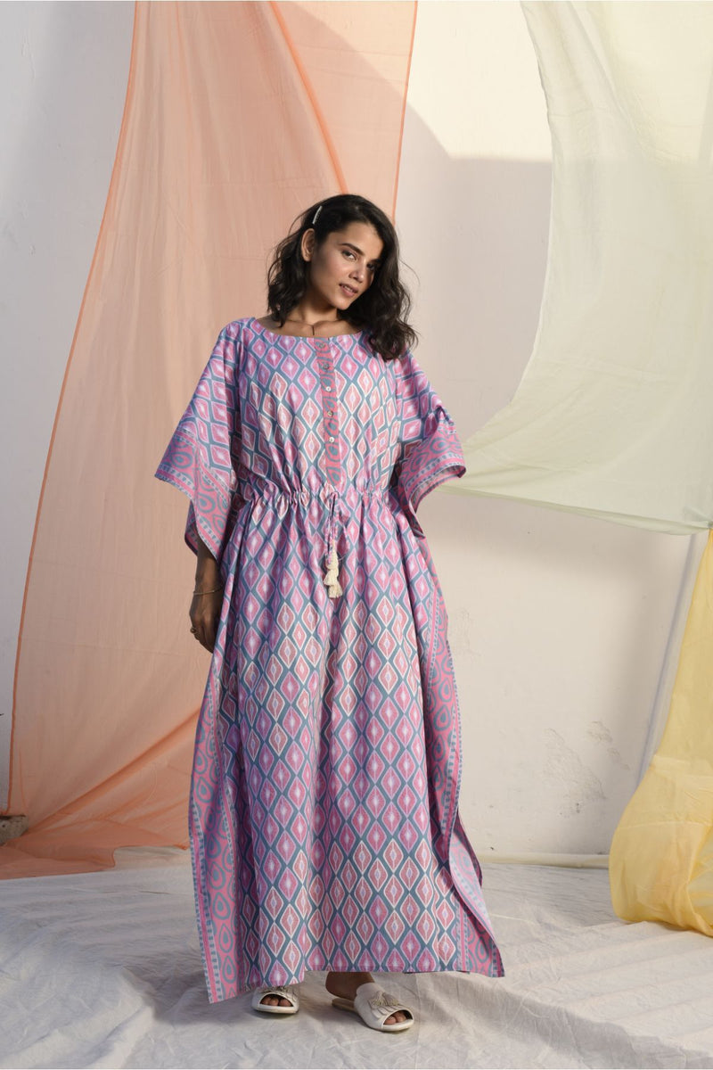 Vibrant Rose Pink Kaftan - Vibrant Collection -DreamSS by Shilpa Shetty
