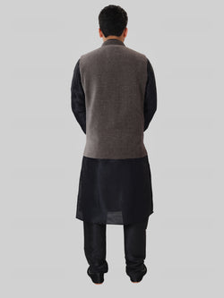Red Jhumka Kundan Earring Tikka Set