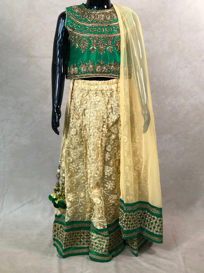 Black kurta with Fancy Banarasi Bottle Green Waist coat