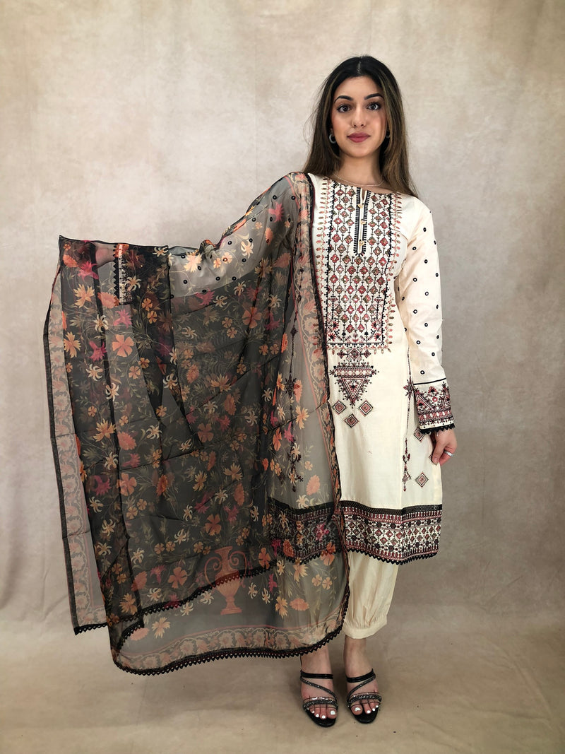 Rose & Clear stone jhumar