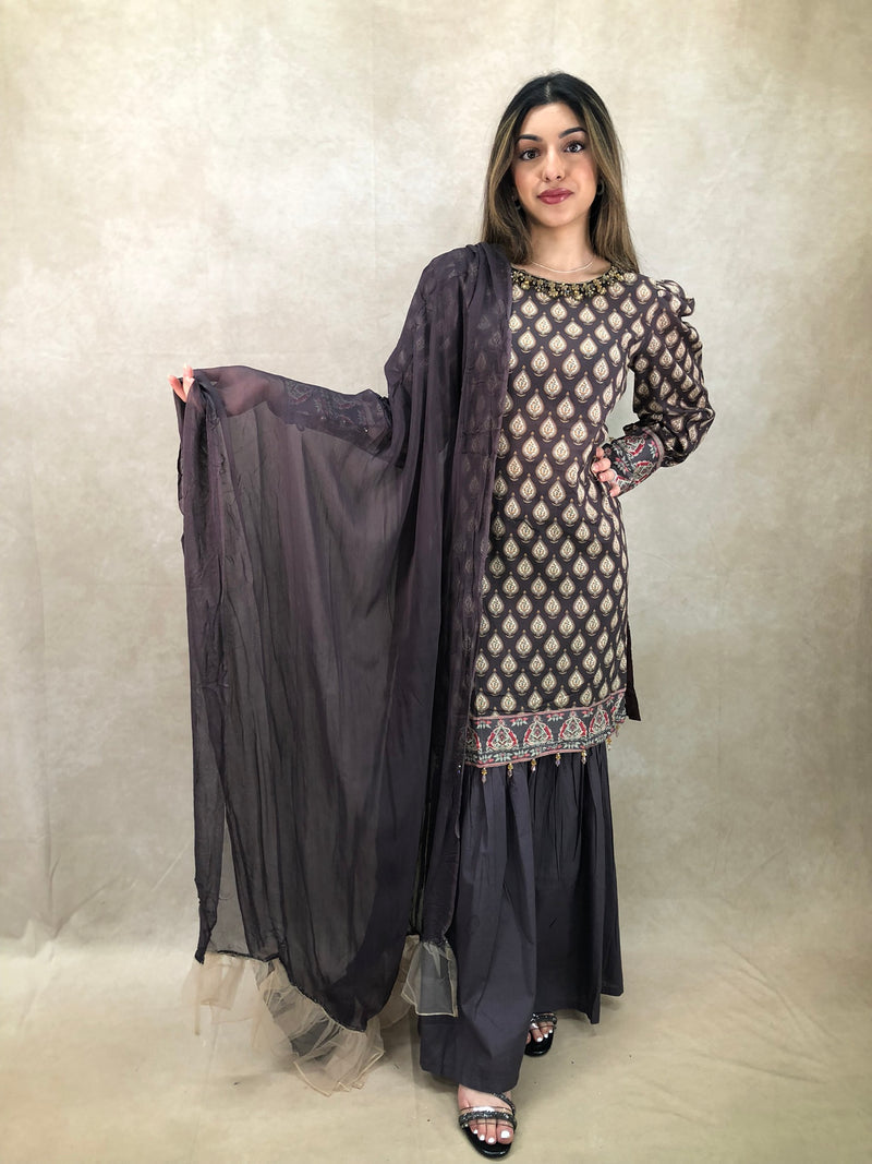 Maroon Polki 9Pc Bridal Set - Sai Fashions (UK) Ltd.