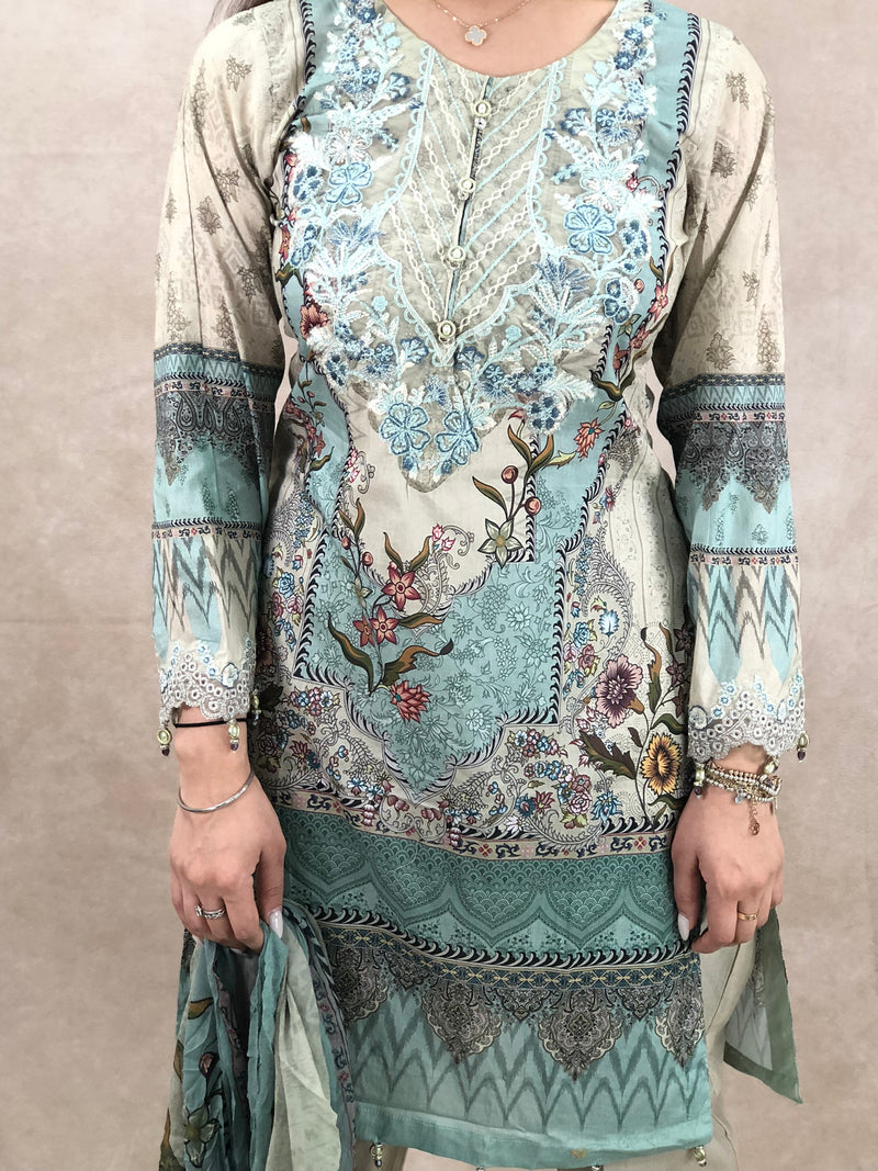 Ruby Earrings & Tikka Set - Sai Fashions (UK) Ltd.