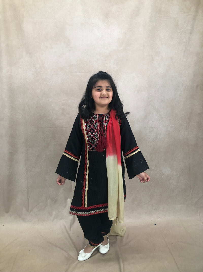 Silver polki set with pearl drop - Sai Fashions (UK) Ltd.