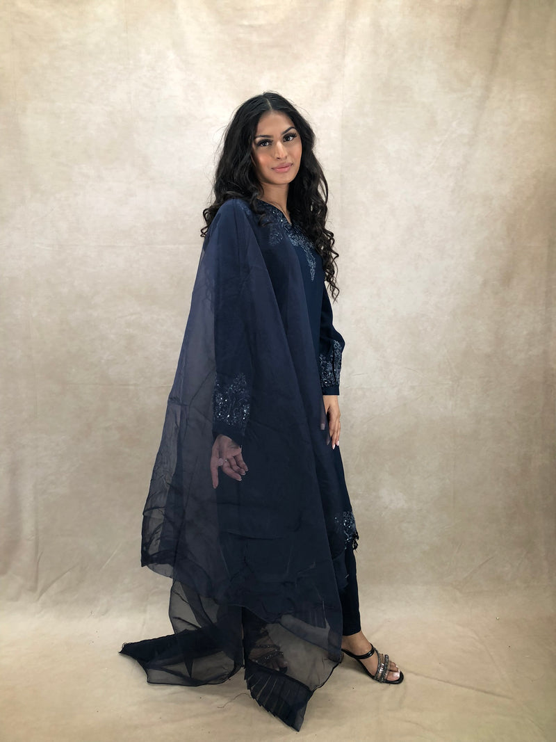 Black Polki Choker Set - Sai Fashions (UK) Ltd.