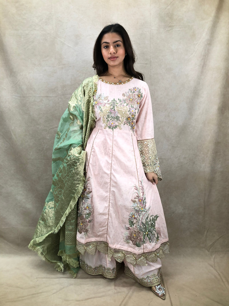 Silver & Pink AD 3 piece set