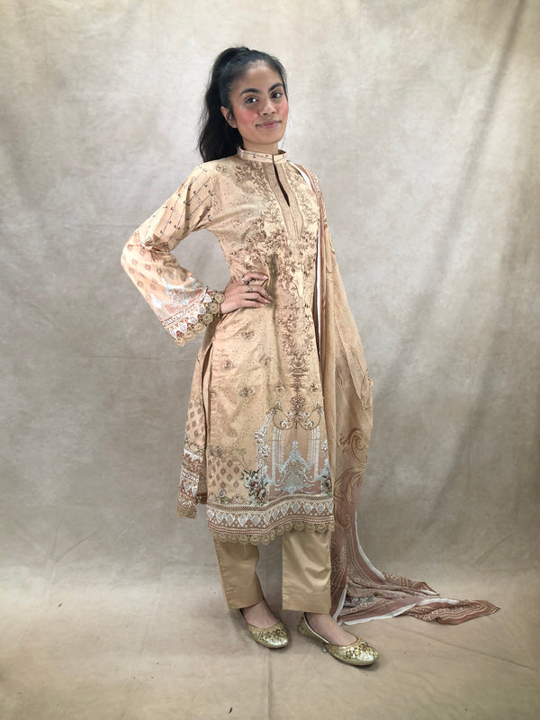 Purple and gold with pearl droplets 8pc bridal set