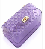 Load image into Gallery viewer, Designer Inspired Jelly Gem Cut Clutch Purse with Gold Chain Strap