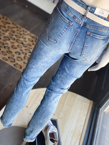 Judy Blue Acid Wash Jeans w/ No Distressing