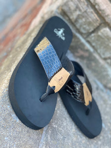 "Corkys ""Beach Ball"" Flip Flop in Black"
