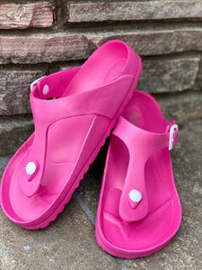 "Hey Girl by Corkys ""Jet Ski"" Sandal in Bubble Gum Pink"