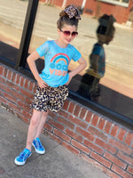 Load image into Gallery viewer, Ruffle leopard shorts