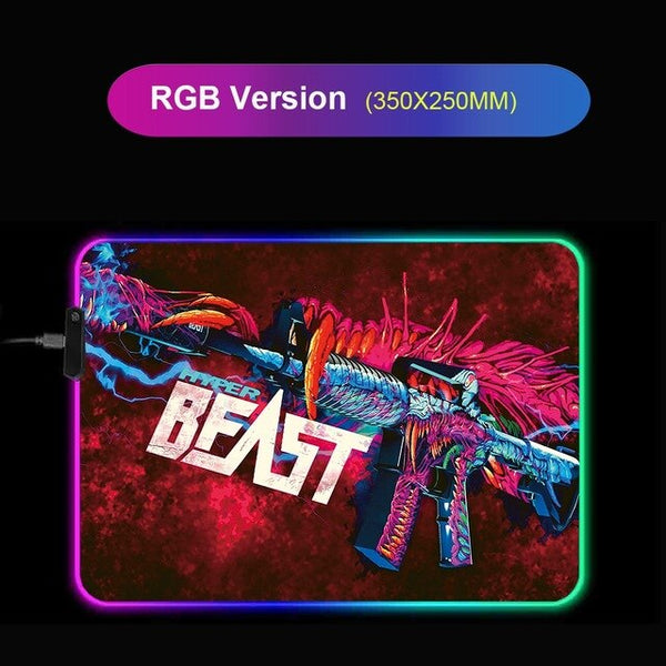 CSGO Guns RGB Giant Gaming Mouse Pad - Various Sizes-Giant Mouse Pad Store