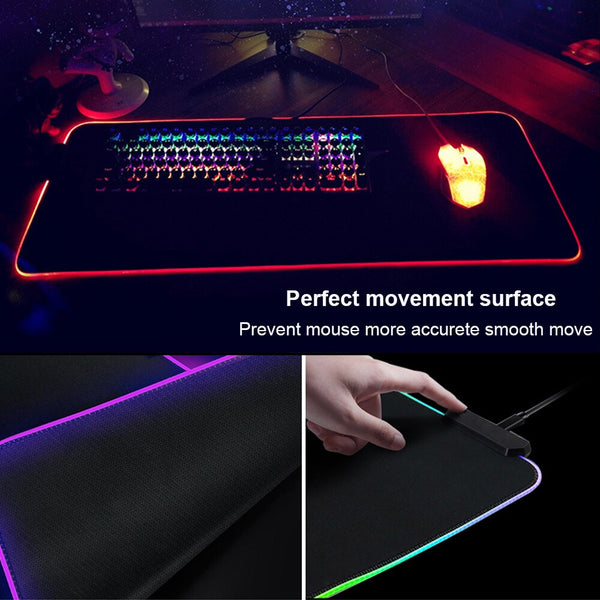 ASUS Republic of Gamers RGB Large Gaming Mouse Pad - Various Sizes-Giant Mouse Pad Store
