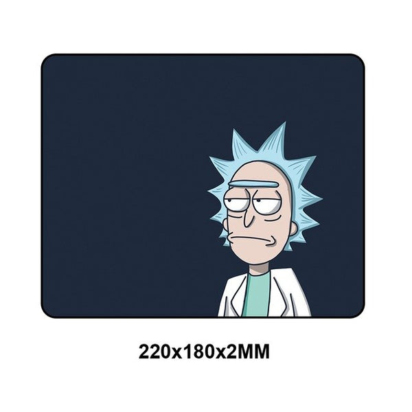 Rick and Morty small Locking Edge Speed Rubber Mouse pad - 22x18cm-Giant Mouse Pad Store