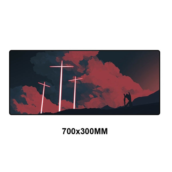 Evangelion Anime Large Mouse Pad - 70x30cm-Giant Mouse Pad Store