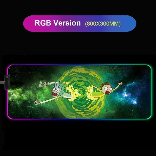 Rick And Morty RGB Led Giant Gaming Mouse Pad - 80x30cm-Giant Mouse Pad Store
