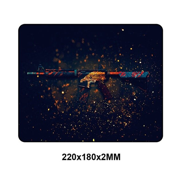 CSGO Small Rubber Gaming Mouse Pad - 22x18cm-Giant Mouse Pad Store