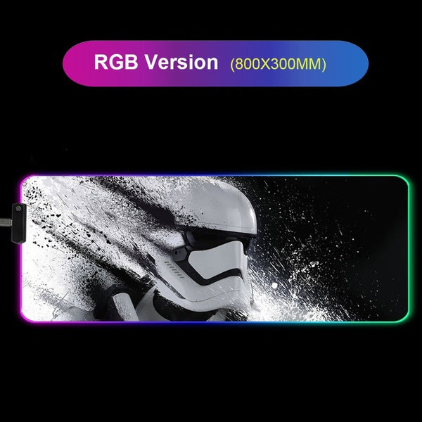 RGB Star Wars Led Mouse Pad Mouse Mat XXL - 80x30cm-Giant Mouse Pad Store