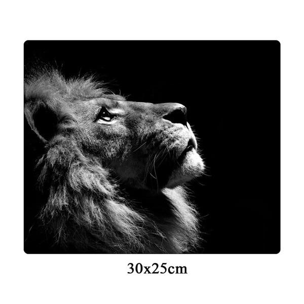 Cool Lion Black Large Non-skid Gaming Mouse Pad - Various Sizes