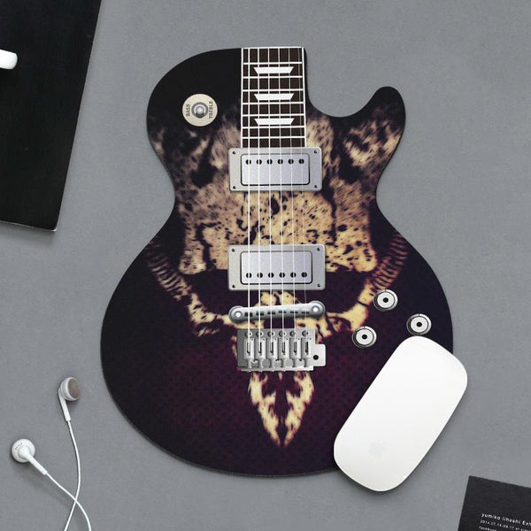 Guitar Shape Durable Small Mouse Pad 18x22cm