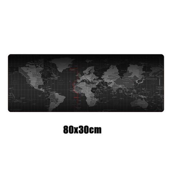 Large XL World Map Mouse Pad Locking Edge Non-Skid Speed Desk Mat - Various Sizes