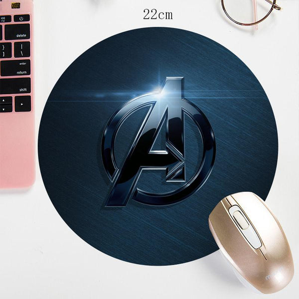 Marvel / DC Avengers Super Hero Round Small Size Gaming Mouse Pad - 22X22cm