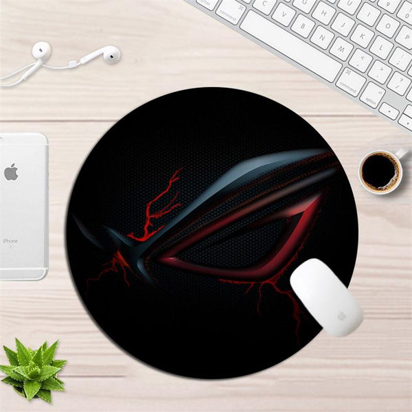 Round Asus Locking Edge Non-Skid Durable Gaming Mouse Pad 22x22cm