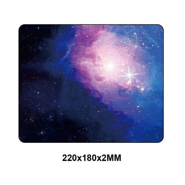 Space Themed Design Computer Mouse Rubber Pad 180x220mm