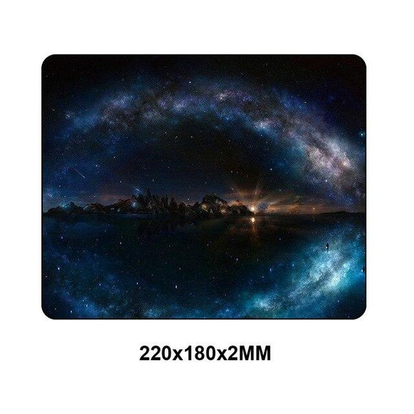 Space Themed Desktop Small Size Mouse Pad - 18x22cm